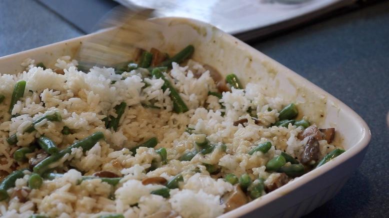 green bean casserole rice